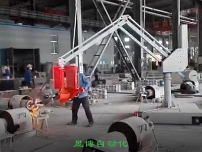 湖北轨道移动式浇铸助力机械手